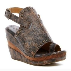 ❤️Bed|Stu Distressed Wooden Wedge Heels - Joann❤️